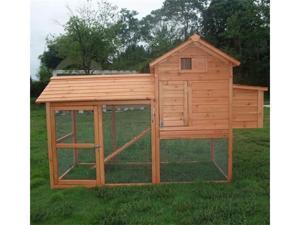 Pawhut Backyard Chicken Coop / Hen House / Rabbit Hutch with Run