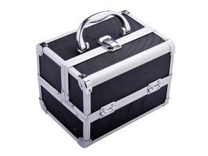 Soozier Cosmetics  #47; Jewelry Travel Case with Mirror - Black