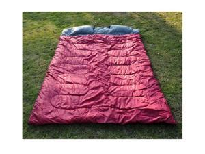 "Outsunny Two-Person Double Wide Sleeping Bag 86"" x 59"" (Red/Gray)"