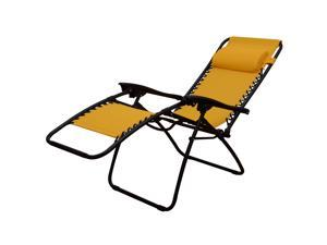 Outsunny Zero Gravity Recliner Lounge Patio Pool Chair - Gold