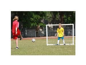 Soozier 8 #39; Heavy Duty Inflatable Soccer Goal w #47; Carrying Bag