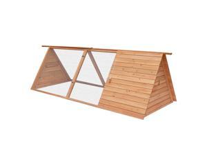 Pawhut Triangle Wooden Animal House Chicken Coop