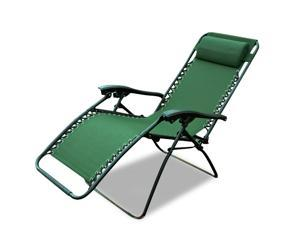 Outsunny Zero Gravity Recliner Lounge Patio Pool Chair - Green