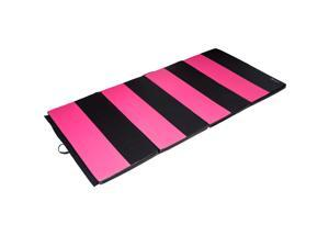 Soozier 8 #39; x 4 #39; x 2  PU Leather Folding Gymnastics Tumbling  #47; Martial Arts Mat with Hand