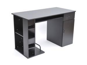 HomCom Small Home Office / Dorm Computer Desk - Black