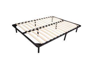 HomCom Full Size Mattress Wood Slat Platform Bed Frame