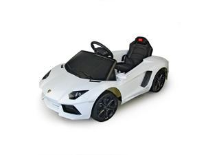 Lamborghini Aventador 6V Kids Electric Ride-On Car with MP3 and Remote Control - White
