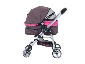 Pawhut Four Wheel Cat/ Dog Pet Stroller - Violet