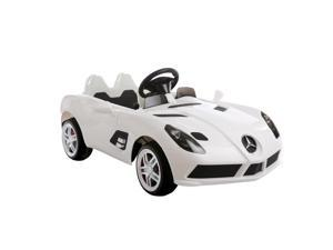 Aosom 12V Mercedes Benz SLR Convertible Kids Electric Ride On Car with MP3 and Remote Control - White