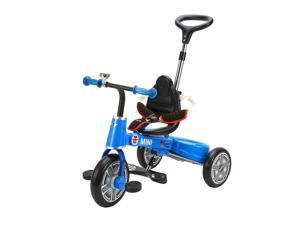 Aosom BMW Mini Toddler Tricycle with Push Handle - Blue
