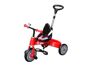 Aosom BMW Mini Toddler Tricycle with Push Handle - Red