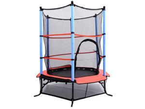 "Aosom 55"" Kids Jumping Trampoline & Enclosure Set"