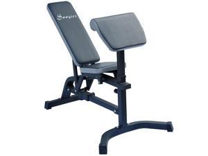 Soozier Incline  #47; Flat Exercise Weight Bench w #47; Preacher Curl Station