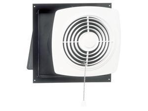"Broan 506 10"" Chain-Operated Wall Fan White Square Plastic Grille 470 CFM"