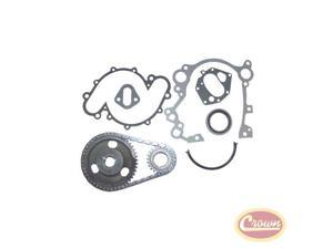 Crown Jeep 9pc.Timing Kit V8 304 360 401 Chains Sprockets Gaskets Seals 3234433k