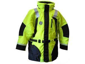 First Watch Hi-Vis Flotation Coat - Hi-Vis Yellow/Black - X-Large