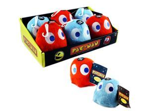 "Toy - Pac-Man - Ghost -  Plush with Sound - 4"" - 12pc - Assorted (6 Red and 6 Blue)"