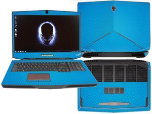"Decalrus  - Alienware 17 (Released 2013) with 17"" screen FULL BODY  Lite BLUE Texture Carbon Fiber skin skins decal for case cover wrap CF13Alien17LiteBlue"