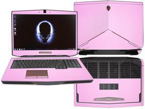 """Decalrus  - Alienware 17 (Released 2013) with 17"""" screen FULL BODY  PINK Texture Carbon Fiber skin skins decal for case cover wrap CF13Alien17Pink"""