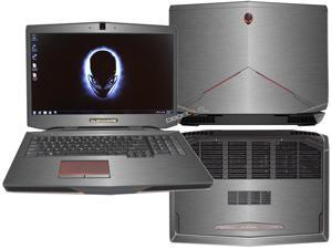 "Decalrus  - Alienware 17 (Released 2013) with 17"" screen FULL BODY TITANIUM Texture Brushed Aluminum skin skins decal for case cover wrap BA13Alien17Titanium"