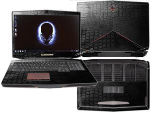"""Decalrus  - Alienware 17 (Released 2013) with 17"""" screen FULL BODY Crocodile skin pattern Texture skin skins decal for case cover wrap CRO13Alien17Black"""