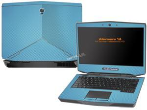 """Decalrus  - Alienware 14 (Released 2013) with 14"""" screen   Sky BLUE Texture Carbon Fiber skin skins decal for case cover wrap CF13Alien14SkyBlue"""