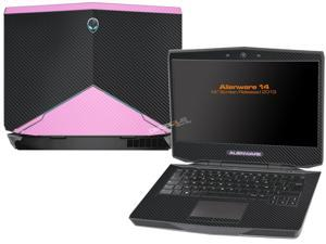 "Decalrus  - Alienware 14 (Released 2013) with 14"" screen   BLACK & Pink Texture Carbon Fiber skin skins decal for case cover wrap CF13Alien14BlackPink"