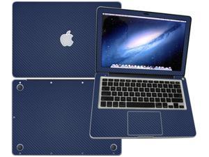 """Decalrus  - Apple Macbook Pro 13 with 13.3"""" screen Full Body BLUE Texture Carbon Fiber skin skins decal for case cover wrap CF13APpro13Blue"""