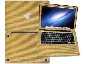 """Decalrus  - Apple Macbook Pro 13 with 13.3"""" screen Full Body GOLD Texture Carbon Fiber skin skins decal for case cover wrap CF13APpro13Gold"""