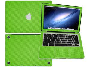 """Decalrus  - Apple Macbook Pro 13 with 13.3"""" screen Full Body GREEN Texture Carbon Fiber skin skins decal for case cover wrap CF13APpro13Green"""