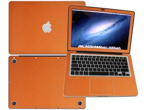 """Decalrus  - Apple Macbook Pro 13 with 13.3"""" screen Full Body ORANGE Texture Carbon Fiber skin skins decal for case cover wrap CF13APpro13Orange"""