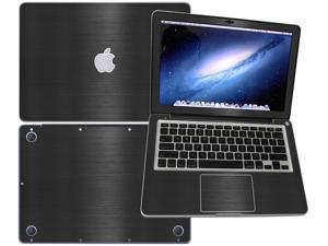"""Decalrus  - Apple Macbook Pro 13 with 13.3"""" screen Full Body BLACK Texture Brushed Aluminum skin skins decal for case cover wrap BA13APpro13Black"""