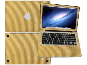 """Decalrus  - Apple Macbook Pro 13 RETINA display with 13.3"""" screen Full Body GOLD Texture Carbon Fiber skin skins decal for case cover wrap CF13pro13RETGold"""