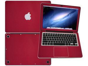 """Decalrus  - Apple Macbook Pro 13 RETINA display with 13.3"""" screen Full Body RED Texture Carbon Fiber skin skins decal for case cover wrap CF13pro13RETRed"""