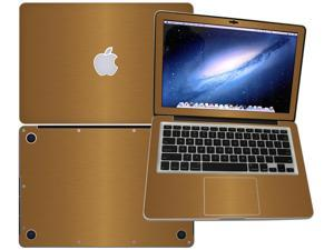 """Decalrus  - Apple Macbook Pro 13 RETINA display with 13.3"""" screen Full Body GOLD Texture Brushed Aluminum skin skins decal for case cover wrap BA13pro13RETGold"""