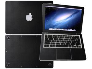 """Decalrus  - Apple Macbook Pro 13 RETINA display with 13.3"""" screen Full Body BLACK Snake skin pattern Texture skin skins decal for case cover wrap SNK13pro13RETBlack"""