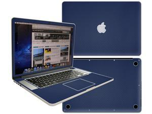 Decalrus  - Apple Macbook Pro 15 with RETINA display Full Body BLUE Texture Carbon Fiber skin skins decal for case cover wrap CFCF15retinaBlue