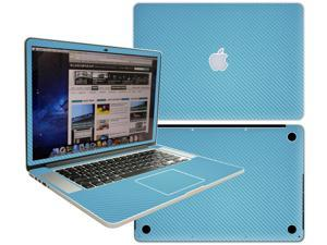 Decalrus  - Apple Macbook Pro 15 with RETINA display Full Body Sky BLUE Texture Carbon Fiber skin skins decal for case cover wrap CFCF15retinaSkyBlue