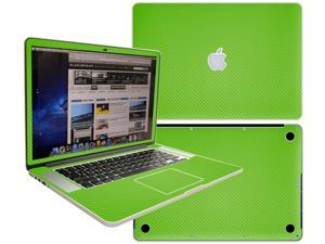 Decalrus  - Apple Macbook Pro 15 with RETINA display Full Body GREEN Texture Carbon Fiber skin skins decal for case cover wrap CFCF15retinaGreen