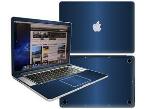 Decalrus  - Apple Macbook Pro 15 with RETINA display Full Body BLUE Texture Brushed Aluminum skin skins decal for case cover wrap BACF15retinaBlue