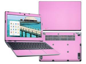 """Decalrus  - Acer C720 Chromebook with 11.6"""" Screen Full Body PINK Texture Carbon Fiber skin skins decal for case cover wrap CFacerFBdyC720Pink"""