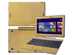 "Decalrus  - Asus Transformer Book T100 tablet with 10.1"" Screen Full Body GOLD Texture Carbon Fiber skin skins decal for case cover wrap CFAsusT100fbodyGold"