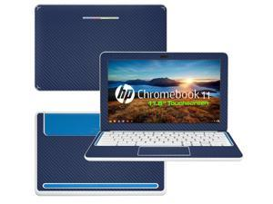 """Decalrus  - HP Chromebook 11 with 11.6"""" Screen Full Body BLUE Texture Carbon Fiber skin skins decal for case cover wrap CFHPchmbook11Blue"""