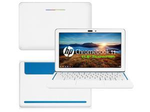 """Decalrus  - HP Chromebook 11 with 11.6"""" Screen Full Body WHITE Texture Carbon Fiber skin skins decal for case cover wrap CFHPchmbook11White"""