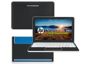 """Decalrus  - HP Chromebook 11 with 11.6"""" Screen Full Body BLACK Texture Carbon Fiber skin skins decal for case cover wrap CFHPchmbook11Black"""