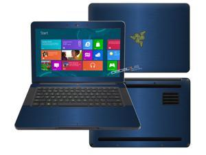 """Decalrus  - Razer Blade RZ09 14  with 14"""" screen Full Body  BLUE Texture Brushed Aluminum skin skins decal for case cover wrap BAfbrzrblade14Blue"""