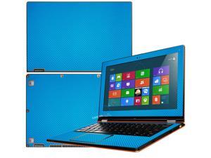 """Decalrus  - Lenovo Ideapad Yoga 13 (1st Generation)  with 13.3"""" screen Full Body Lite BLUE Texture Carbon Fiber skin skins decal for case cover wrap CF13yoga13LiteBlue"""