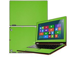 """Decalrus  - Lenovo Ideapad Yoga 13 (1st Generation)  with 13.3"""" screen Full Body GREEN Texture Carbon Fiber skin skins decal for case cover wrap CF13yoga13Green"""