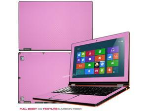 """Decalrus  - Lenovo Ideapad Yoga 13 (1st Generation)  with 13.3"""" screen Full Body PINK Texture Carbon Fiber skin skins decal for case cover wrap CF13yoga13Pink"""
