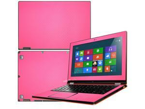"""Decalrus  - Lenovo Ideapad Yoga 13 (1st Generation)  with 13.3"""" screen Full Body Hot PINK Texture Carbon Fiber skin skins decal for case cover wrap CFyoga13HotPink"""